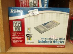 Approx 15x D-Link notebook adaptors, all new and boxed.