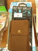 3x Items being; out out wallet with 2x Case It universal waterproof protector, new and packaged.