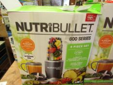 | 1X | NUTRIBULLET 600 SERIES | UNCHECKED AND BOXED | NO ONLINE RE-SALE | SKU C5060191467346 |
