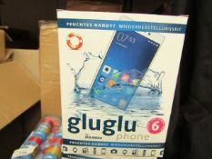4x Boxes of 6 Glu Glu wet smartphone care set, new and boxed.