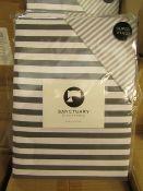 Sanctuary Harper Mono Superking Reversible Duvet Set,100 % Cotton New & Packaged