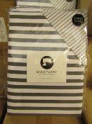 Sanctuary Harper Mono Superking Reversible Duvet Set,100 % Cotton RRP £79.99 New & Packaged