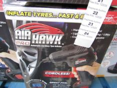 | 1x | AIR HAWK PRO CORDLESS COMPRESSOR | UNCHECKED AND BOXED | NO ONLINE RE-SALE | SKU