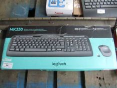 Logitech MK330 kayboard and mouse, untested and boxed.