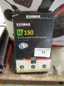 Edimax N150 WiFi Bluetooth 4.0 USB adaptor, untested and boxed.