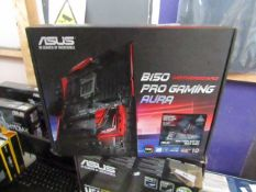 Asus B150 Pro gaming motherboard, untested and boxed. RRP £186.00