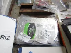 Seagate 1TB hard drive, untested.