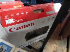 Canon Pixma TS3150 printer, untested and boxed.