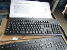 Office keyboard, untested but has a foreign layout untested and boxed.