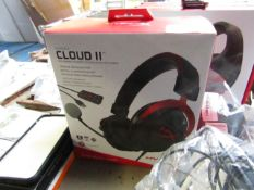 Hyper X Cloud 2 gaming headphones, untested and boxed.