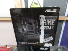 ASUS - Prime A320M-K - Graphics Card - Untested and boxed.