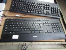 Logitech keyboard, untested and boxed.