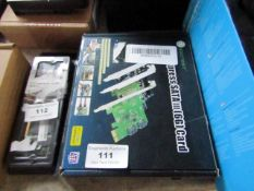 IO Crest express SATA 6G card, untested and boxed.