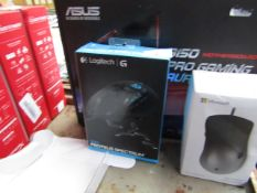 Logitech G502 Proteus Spectrum gaming mouse, untested and boxed. RRP £104.00
