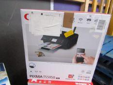 Canon Pixma TS5050 printer, untested and boxed.