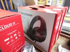 Hyper X Cloud Stinger gaming headphones, untested and boxed.