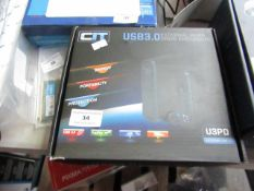 CIT USB 3.0 external hard drive enclosure, untested and boxed.