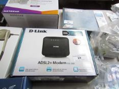 D-Link ADSL2+ modem, untested and boxed.