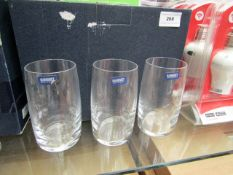 5 x Banquet Small Tumbler Glasses. Boxed