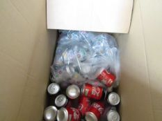 Approx 16x 330ml Rio Tropical cans. BB 11/2020 with Approx 10x 330ml Coca Cola cans. BB 31/08/2020