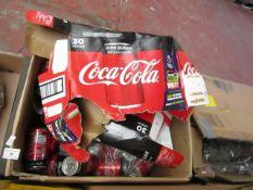 Approx 40x 330ml Coca Cola Zero cans. BB 31/08/2020