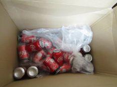 Approx 15x 330ml Coca Cola Zero cans. BB 30/06/2020