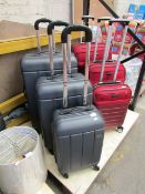 Set of 3x Antler suitcases, no major damage.