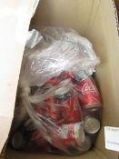 Approx 35x 330ml Coca Cola Zero cans. BB 31/08/2020