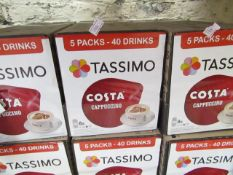 5x Packs of 8x 280g Tassimo Costa cappuccino. BB 13/02/2020