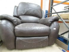 La Z Boy Manual reclining armchair, tested wrking hgas discoloured patch on it
