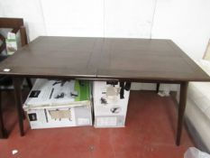 | 1x | Swoon Ginsberg extending dining table in Dark Mango | no box | SKU - | RRP £549