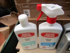 2x 500ml Bottles of Auto finish Glass cleaning chemicals.