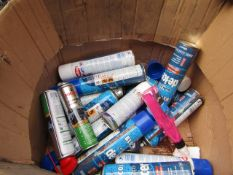 Box of approx 12x 600ml canisters of De Icer