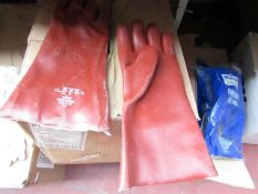 Box of approx 20x Polychem, Chemical Rubber gloves, new