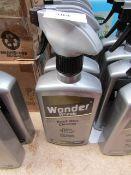 4x 500ml Spray bottles of Wonder wheels roof box cleaner, new