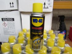 6x 200ml Canisters of WD 40 Motorbike chain wax, new