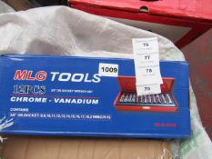 MLG Tools 12 Piece Socket set in carry case