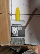 4x 100mm fence and Shed Brushes, new