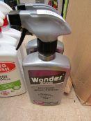 2x 500ml spray bottles of Wonder Wheels Universal wheel cleaner, new