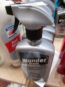 4x 500ml Spray Bottles of Wonder wheels Fabric Stain removers, new
