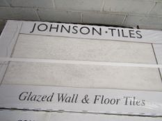 10x Packs of 5 Aslar White 300x600 wall and Floor Tiles By Johnsons, the RRP per pack is œ34.99