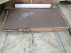 10x Packs of 6, 300x600 Vitra Microtec Moka K873473 Porcelain Gloss finish tiles, new