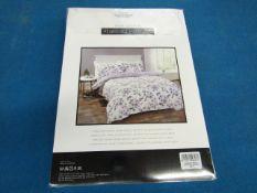 Sanctuary Elissia Purple Reversible Duvet Set Double, Includes duvet cover and 2 pillow cases, 100 %