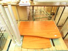 Wooden & Metal Computer Desk 60cm x 100cm with adjustable Height Legs see image