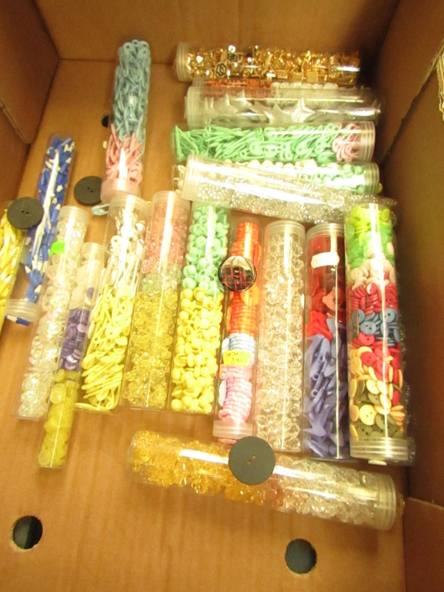 Lot 141 - 10 x various Designs Tubes of Buttons new see image randomly picked