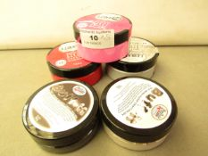 5 items being 3 x I Z INK 3D 75ml Textured Paste Colours Silver, Rose, & Tomato & 2 x PinFlair