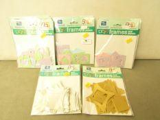 11 x packs of Card Art Frames & Panels for card making, projects & scrapbooks etc new