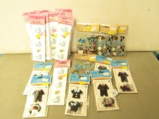22 x packs of various Finishing Touches Premium Embellishments for Cards, Projects etc new