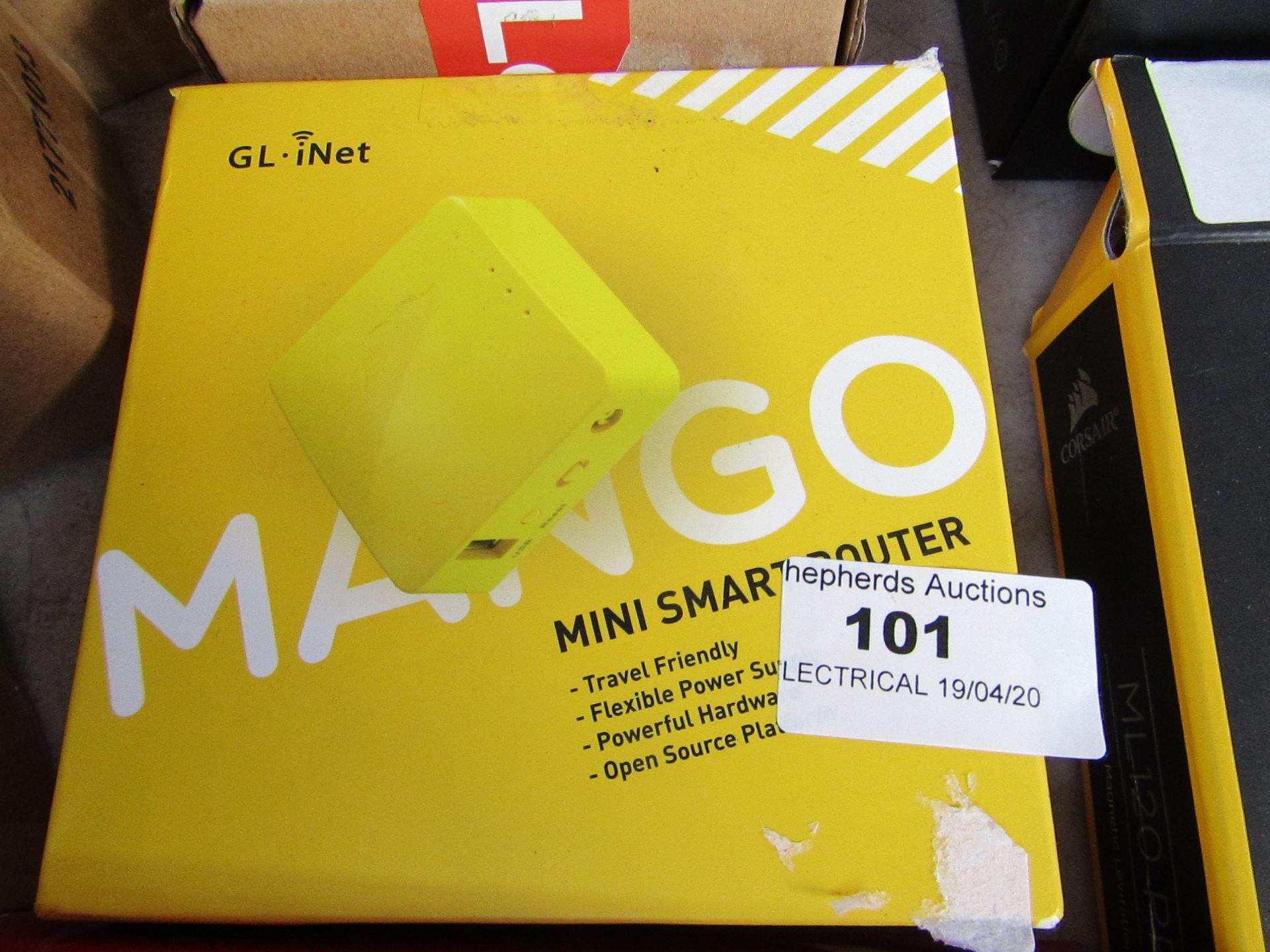 Los 101 - GL . Net - Mango Mini Smart Router - Untested & Boxed.