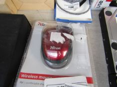 TRUST - Wireless Mouse (RED) - Untested & Packaged.